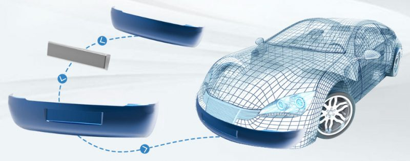 Car with Solid-Surface Hybrid Modelling technology to create designs