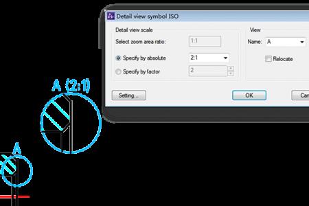 Reusable detailing tools dialog