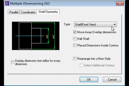 Power Dimensioning input dialog