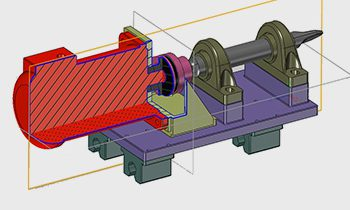 Mechanical assembly with sectioned component