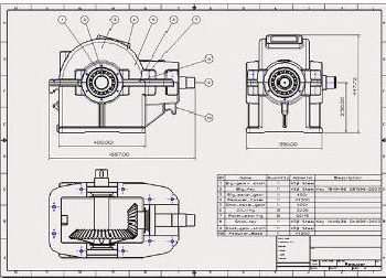 ZW3D drawing of mechanical component