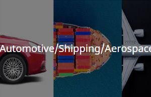 split image showing a car, a ship, and an airoplane