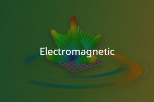 Electromagnetic waves radiating on a green background