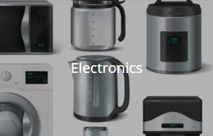 pictures of consumer electronics items like kettles toasters etc