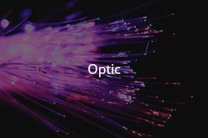 A bunch of Fibre optic cables