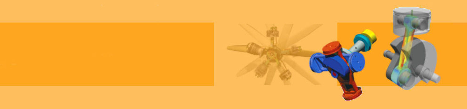 Orange banner showing components from a simple engine under analysis