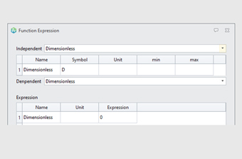 Computer dialog showing functions and expressions that are availible